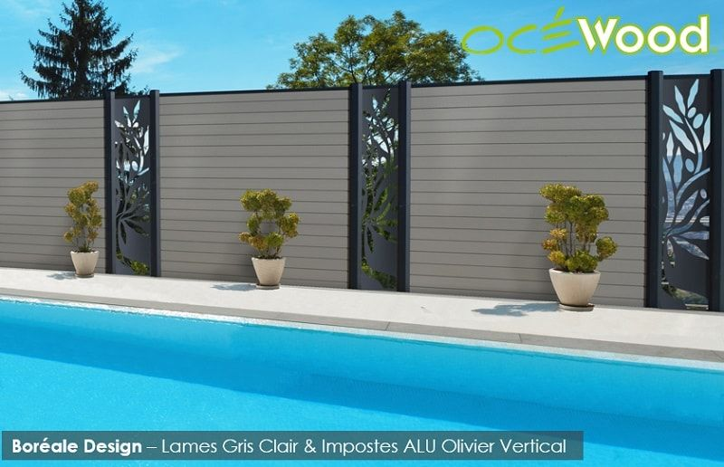 Océwood® - Clôture Décorative Boréale Design Olivier - www.ocewood on