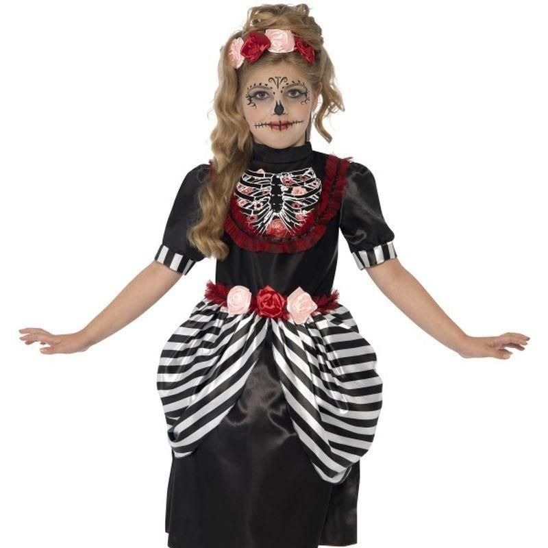 Sugar Skull Costume Kids Black/White (With images