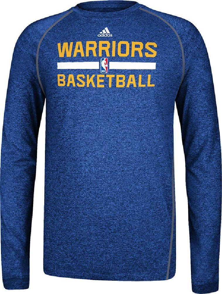 cb89cfb9f Golden State Warriors Heather Blue Climalite Practice Long Sleeve Shirt by  Adidas  37.95