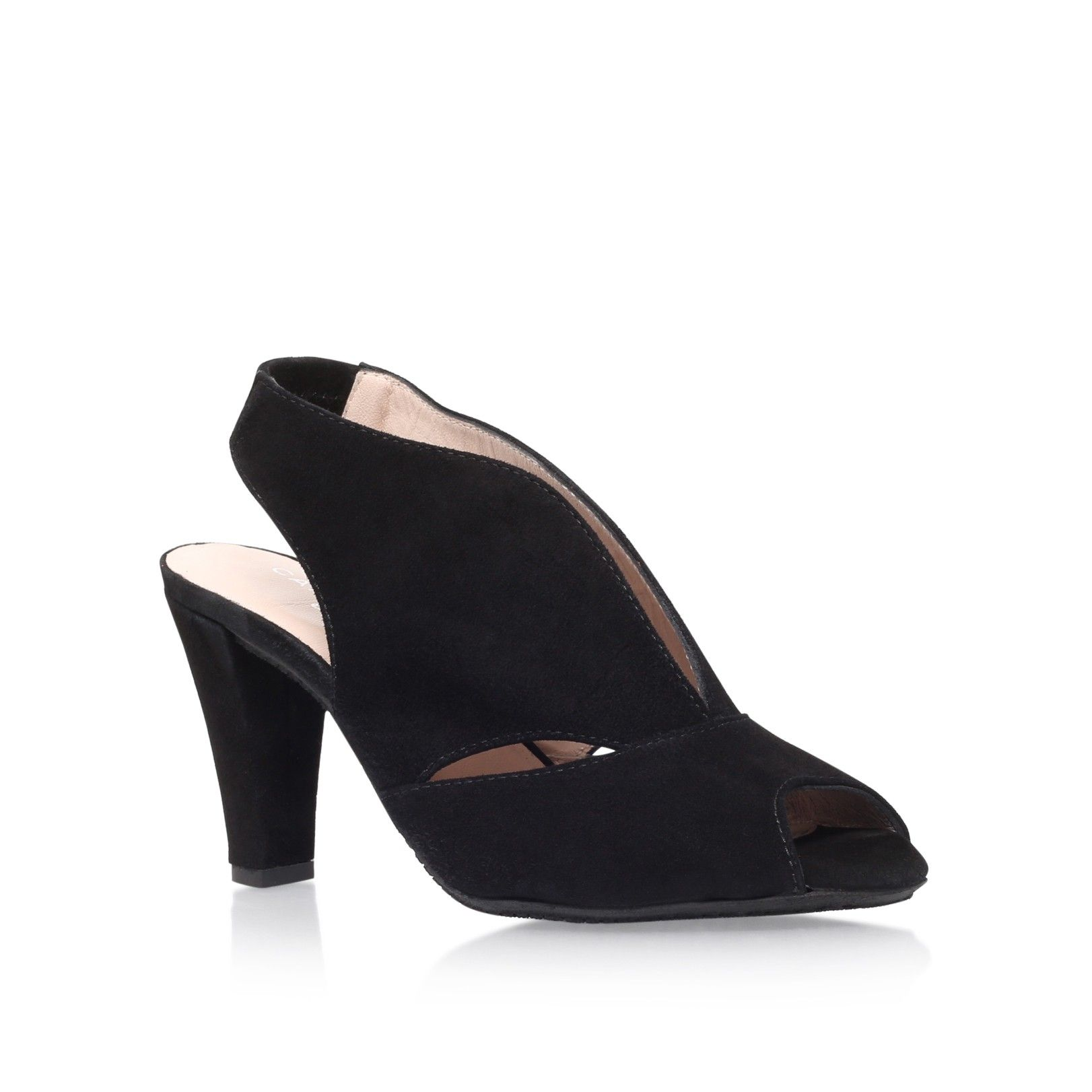 20463b9b299 arabella black mid heel sandals from Carvela Comfort