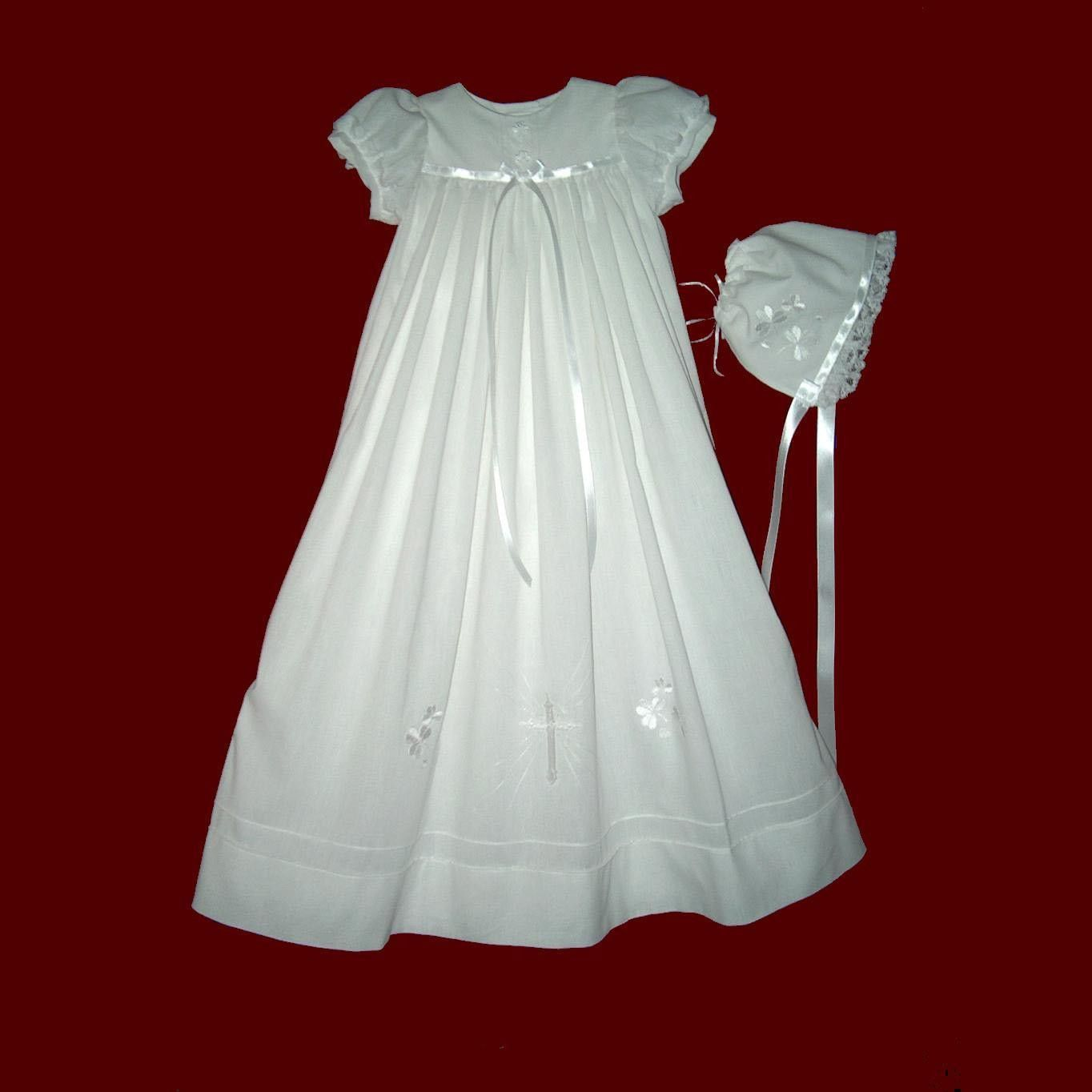 This is a beautiful vintage look long christening dress with angel ...