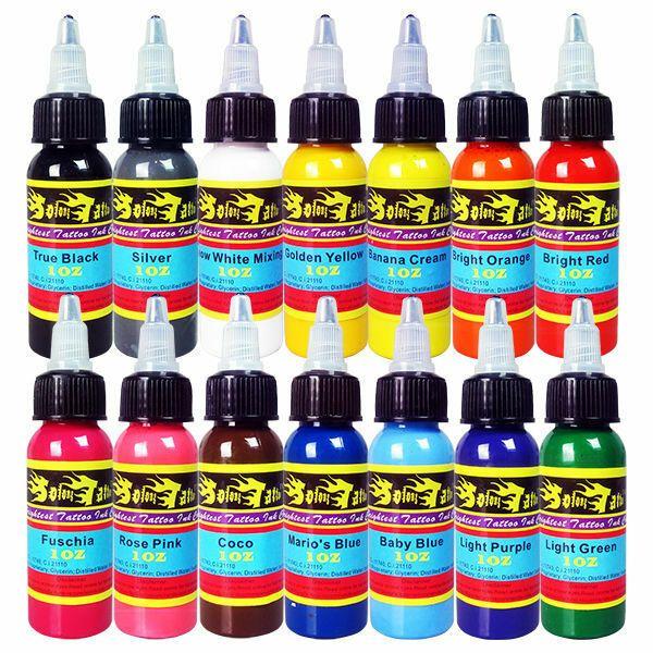 Ebay Sponsored Professional Tattoo Ink Kit 14 Colors 1oz 30ml Tattoo Pigment Set Ti301 30 14 Tattoo Ink Sets Bottle Tattoo Best Tattoo Ink