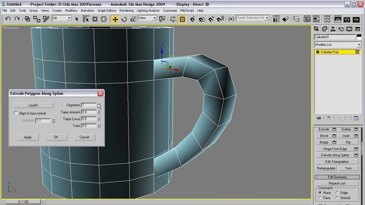 3Ds Max A quick coffee mug 3d max tutorial, Viera