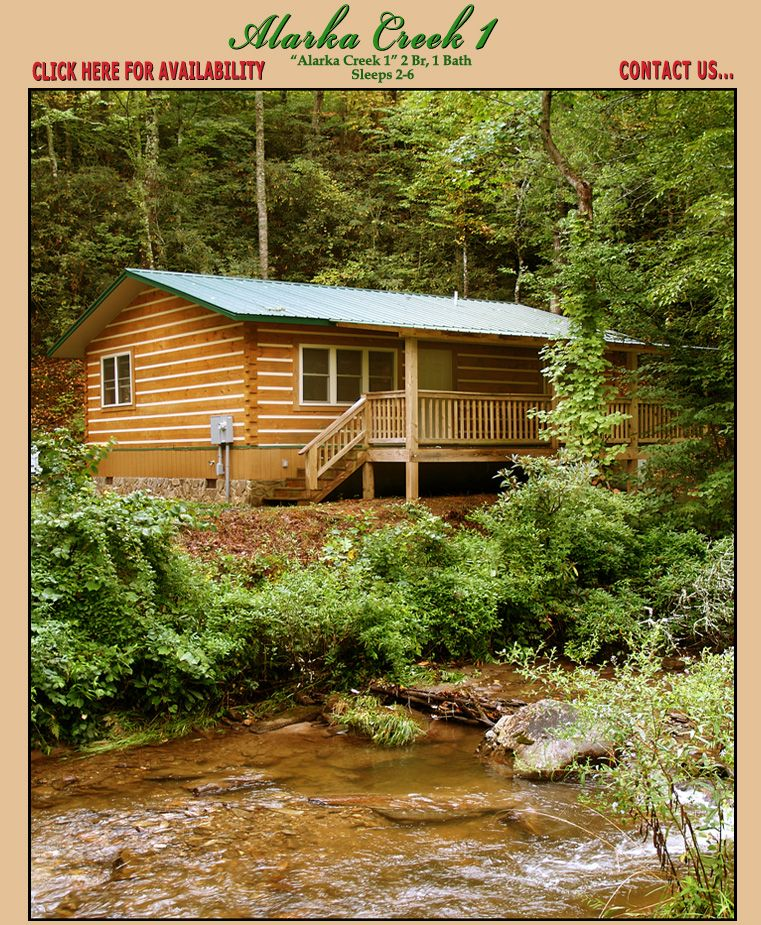 Smoky Mountain Alarka Creek Cabin Rentals Bryson City North Carolina Smoky Mountains Affordable Vacations North Carolina Vacations