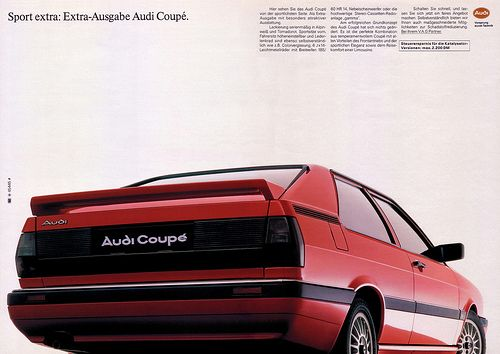Audi Coupe 1986 B2 Typ 81 Sport Extra Audi Coupe Audi Gt Audi