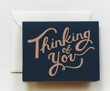 Stationery A Z Thinking Of You Cards Hand Lettering
