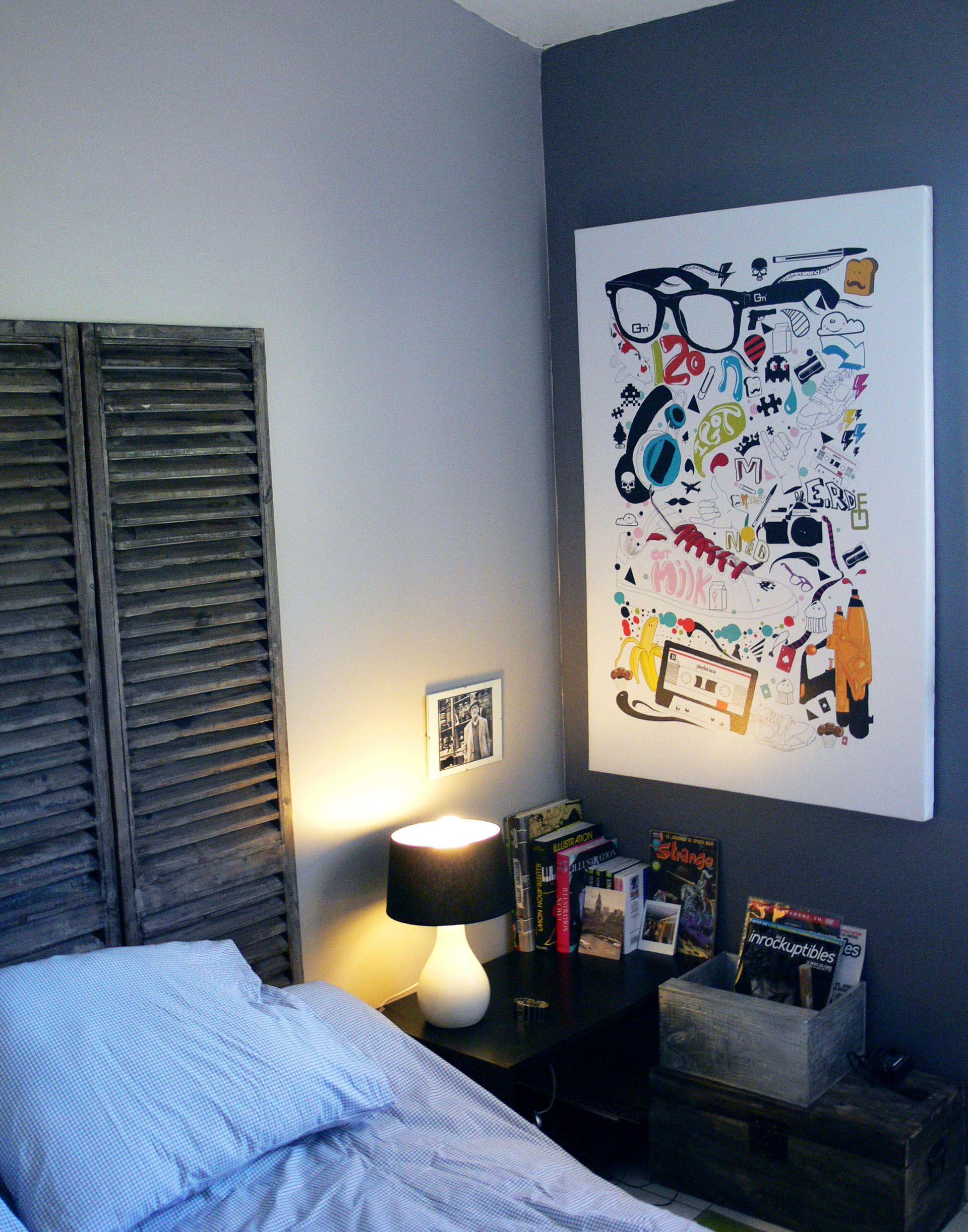 Chambre Design Avec Le Tableau My Bag By Mathieu Gazaix Decoration