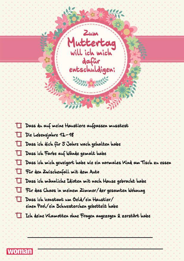 Muttertagskarten zum ausdrucken kreativit t phantasie pinterest muttertag muttertag - Muttertag pinterest ...