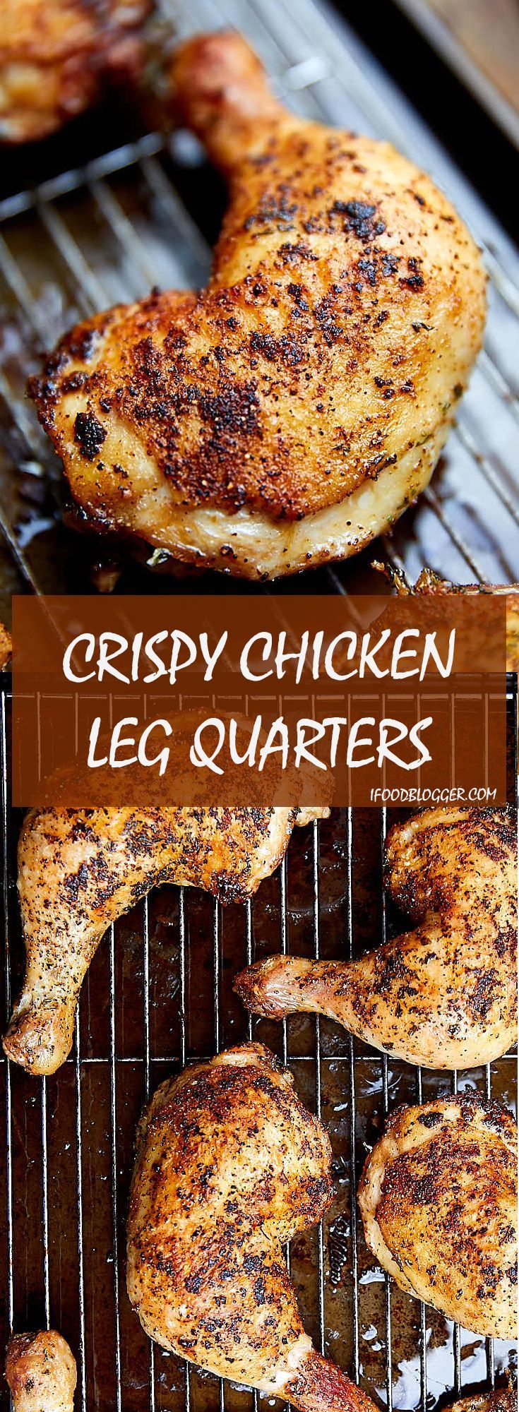 and fall-off-the-bone tender oven roasted chicken leg quarters. Very easy to make and perfect every time. |