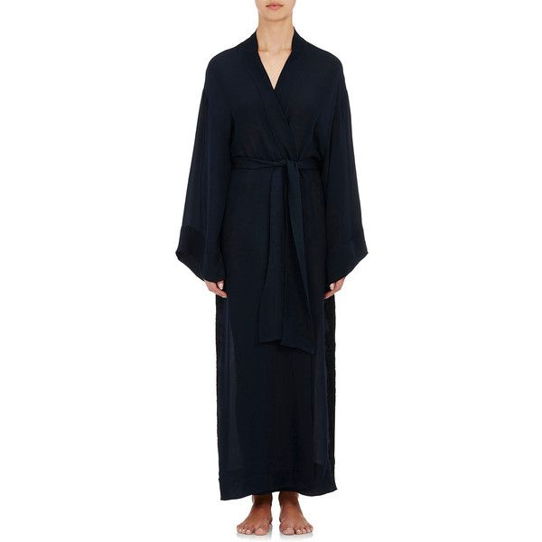 LFrank by Liseanne Frankfurt Asteria Dressing Gown (3.535 BRL) found on Polyvore featuring women's fashion, intimates, robes, colorless, lfrank, bath robes, lace robe, lace dressing gown and dressing gown