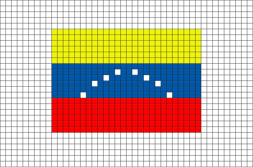 Flag of Venezuela Pixel Art from BrikBook.com #Venezuela #FlagofVenezuela #BolivarianRepublicofVenezuela #Venezuelan #SouthAmerica #pixel #pixelart #8bit Shop more designs at http://www.brikbook.com
