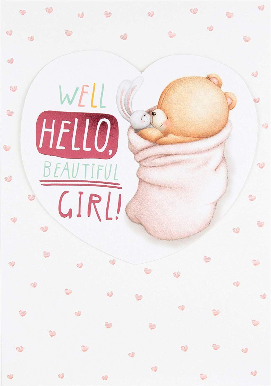 Hallmark Forever Friends Baby Boy Card Hello Beautiful Old Model Medium