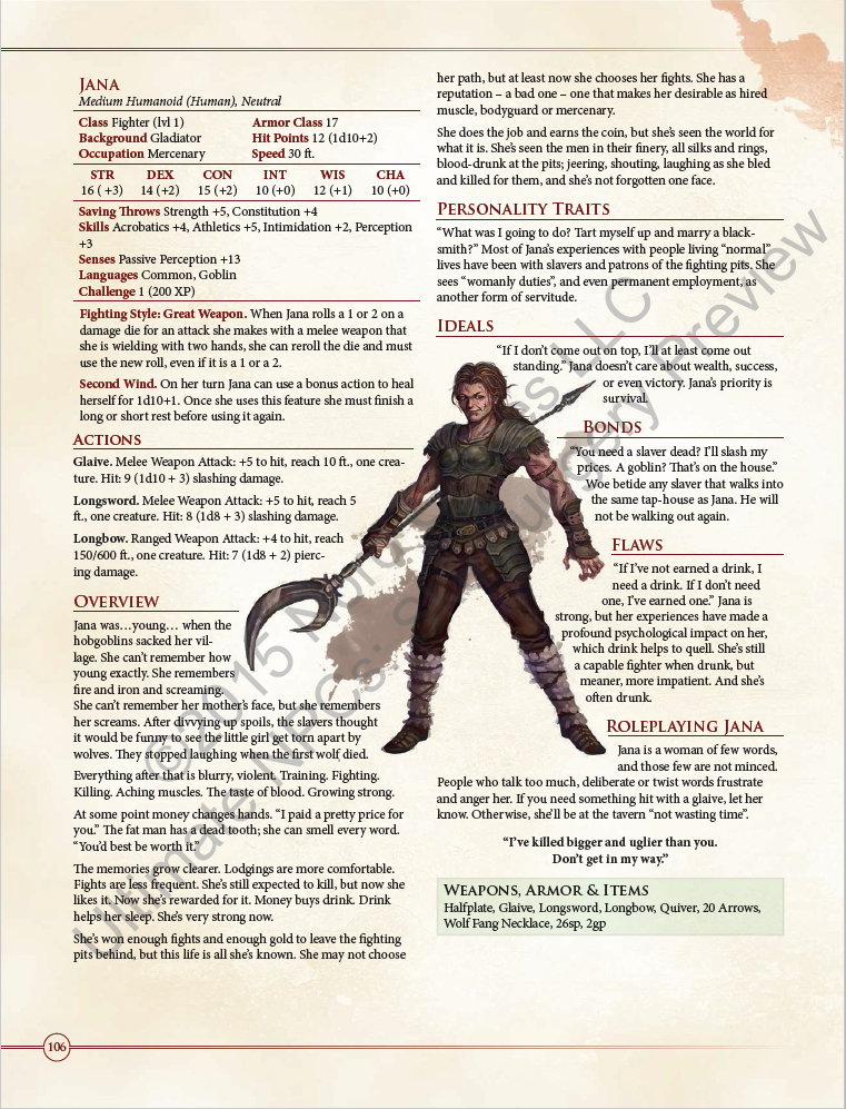 200 Pages of NPCs For 5E, Pathfinder, or S&W | Characters in