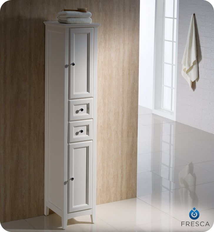 fresca oxford 14 tall linen side cabinet white finish master