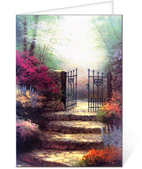 Funeral Program Sample: Thomas Kinkade® Garden of Promise Funeral ...