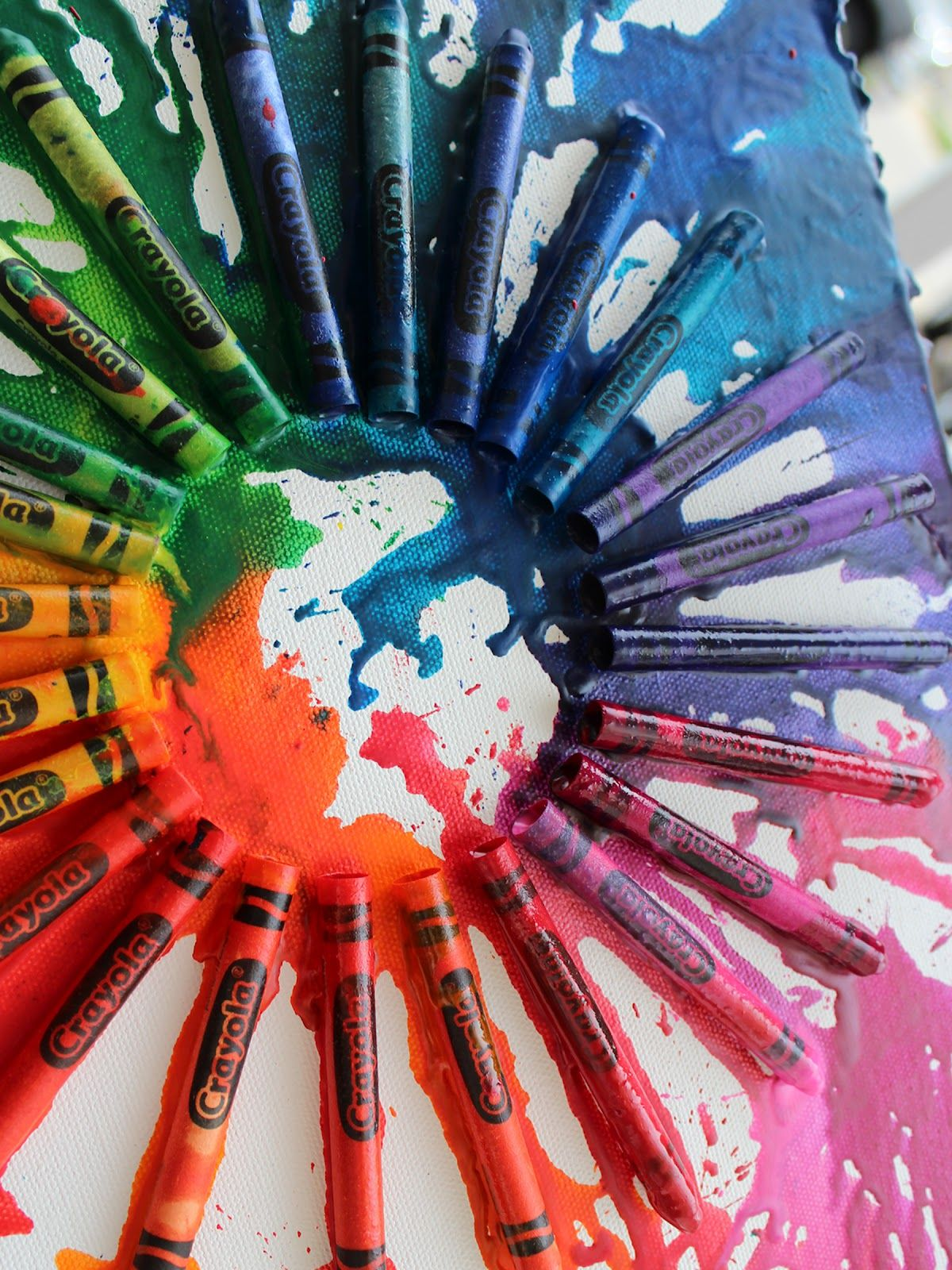 color crayon art : Exploring Color Crayon Art Want A Fun Easy Project To Do Try Melting Crayons