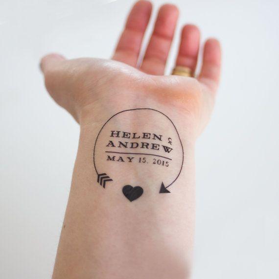 Arrow Heart Wedding Logo Temporary Tattoos By Kristenmcgillivray