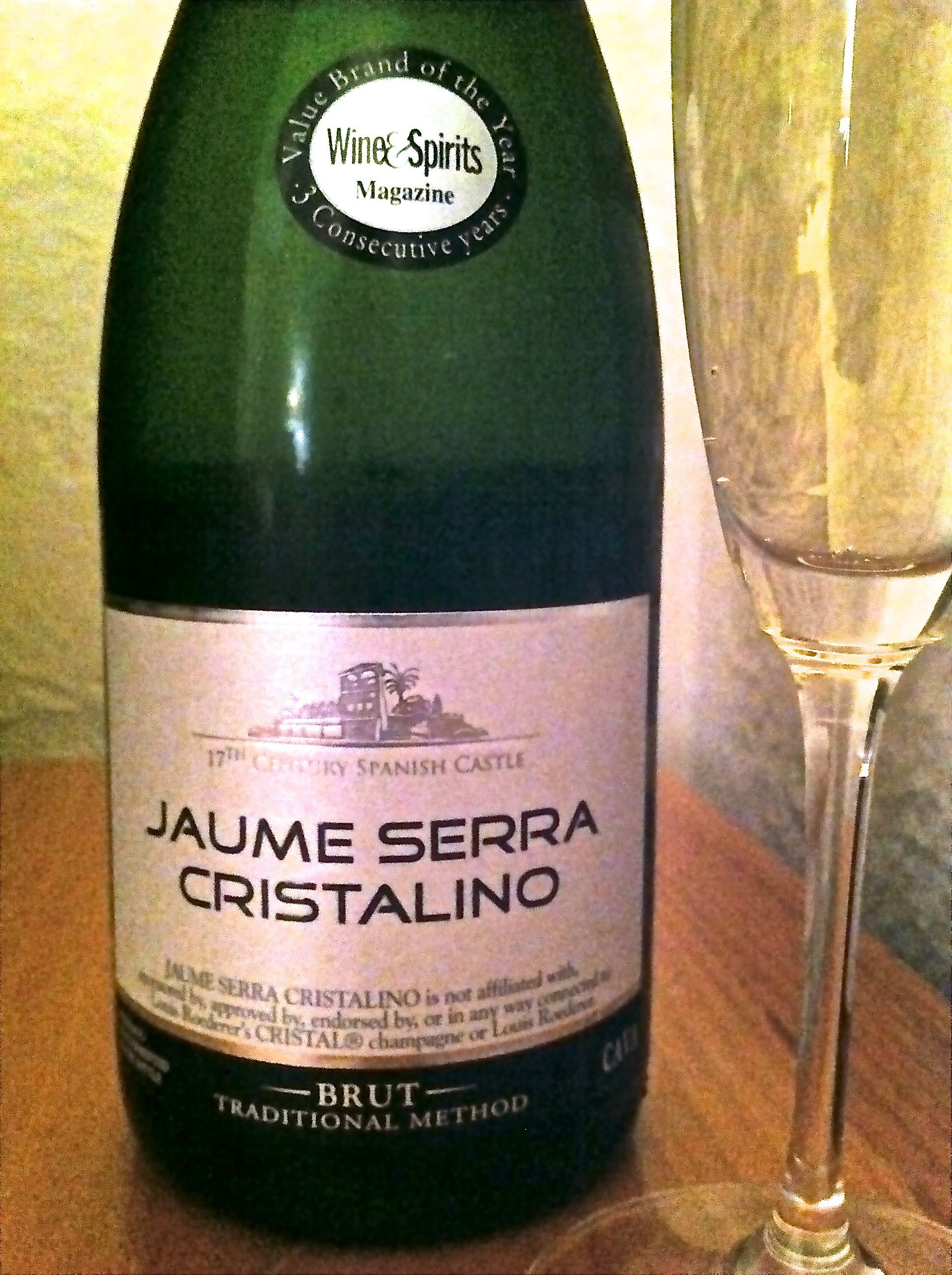 cristalino champagne   NV Jaume Serra Cristalino, Brut Traditional Method Cava, Spain