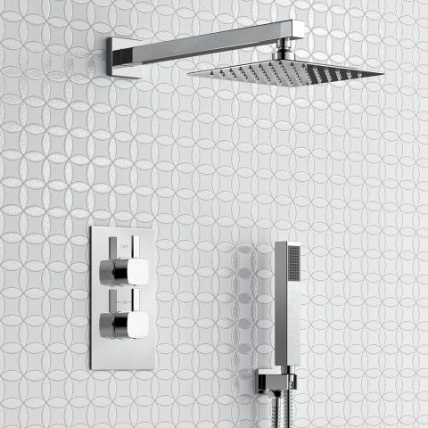 200mm Square Stainless Steel Wall Mounted Head, Handheld ...