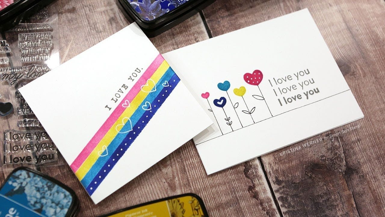 quick  easy valentine's cards ideas for love messages