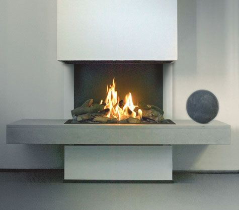 Kal Fire Romantica 3 Sided Open Gas Fires Fireplace Gas