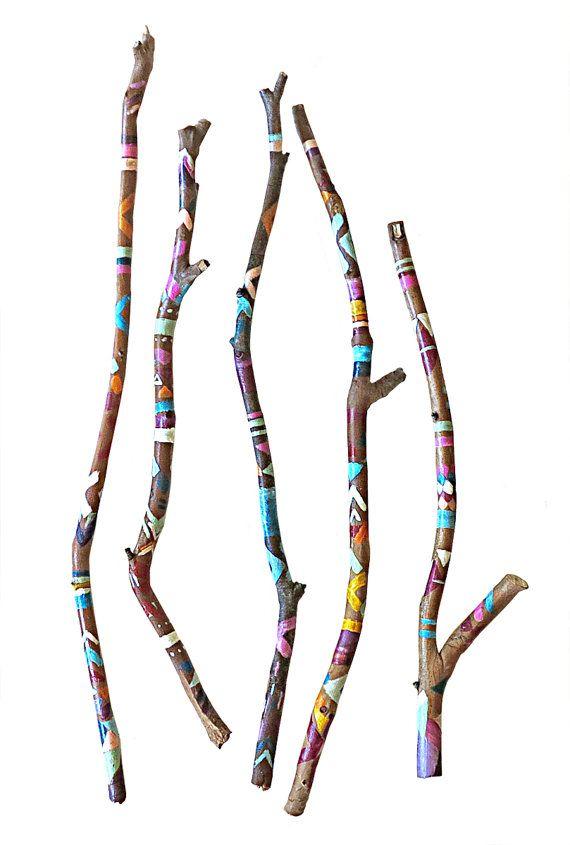 Bemalte Stöcke von lilyismyname auf Etsy