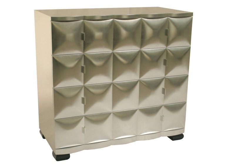 DIAMOND SILVER LEAF CHEST OF DRAWERS Home Ideas Pinterest