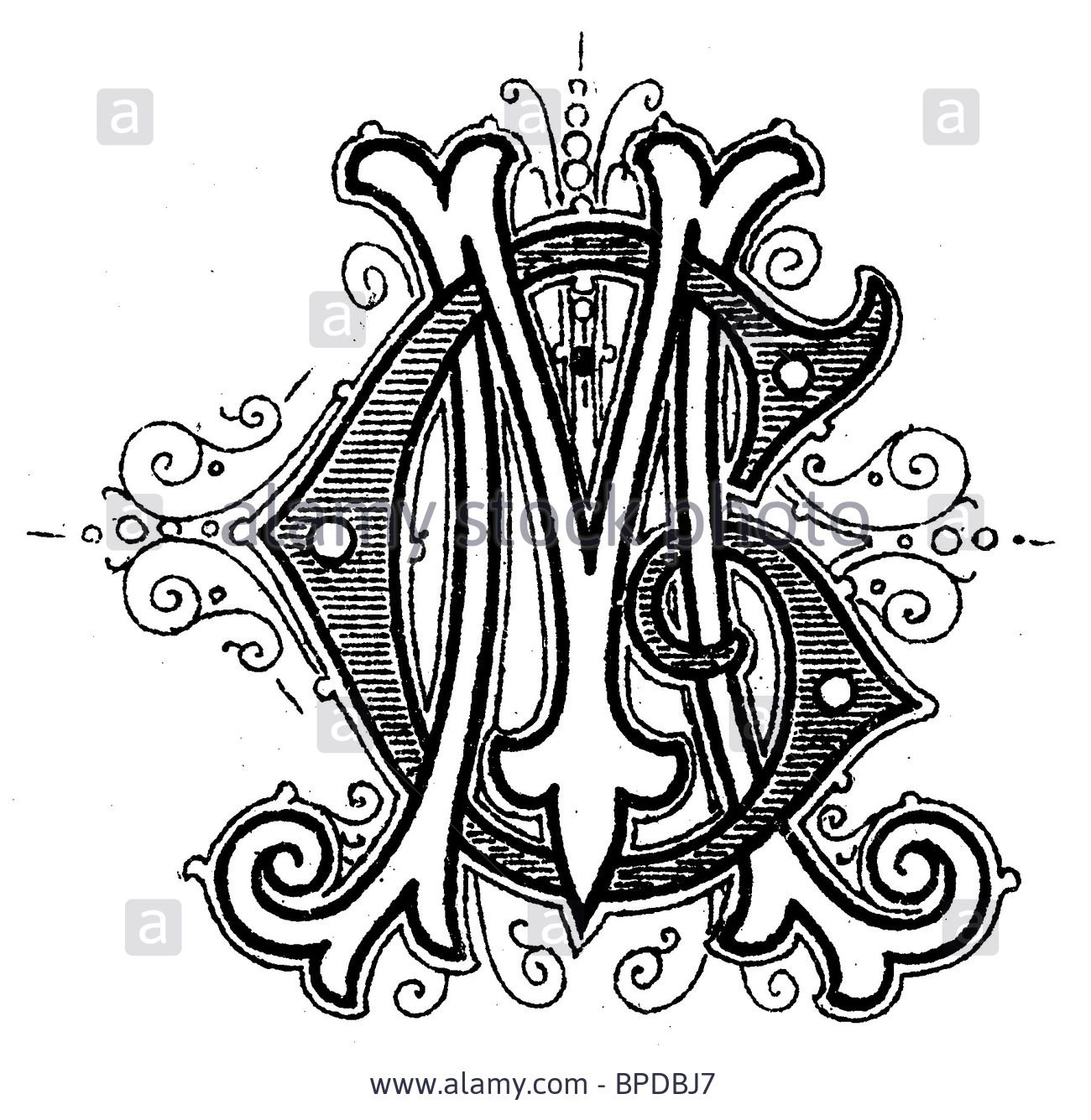 Monogram Mg Stock Photo, Picture And Royalty Free Image