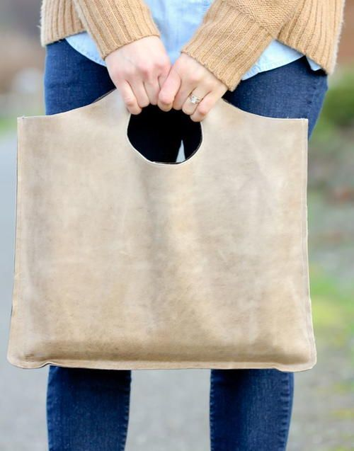 Four Step Leather Tote Tutorial | costura | Pinterest | Costura