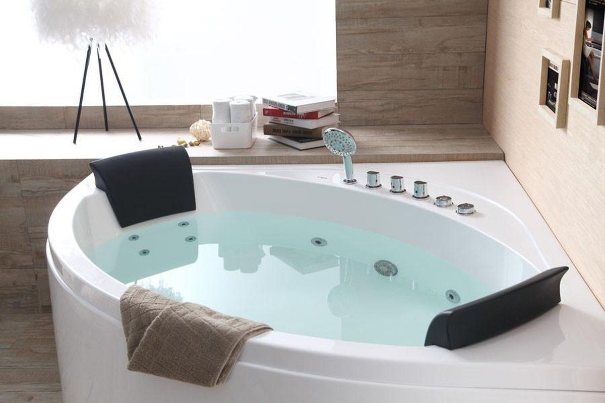 Eago Am200 5 Rounded Modern Double Seat Corner Whirlpool Bath Tub
