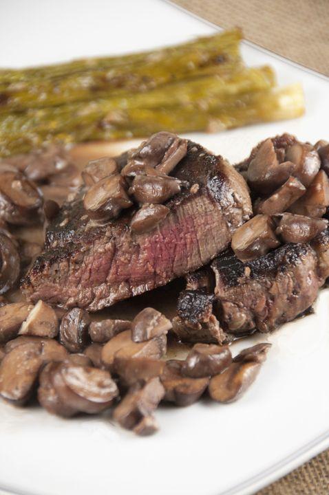 recipe: flank steak with mushroom ragout [9]