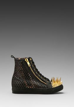 888d25dc52b3 ShopStyle.ca  Jeffrey Campbell Adams Spike in Black Perf Gold  180.56