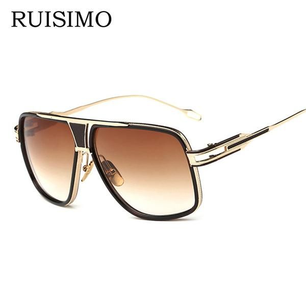 e6021e4e7d7 FuzWeb VISION Square Pilot Sunglasses Men Driving Male Luxury For Men Metal  Cool Shades MIRROR Oculos