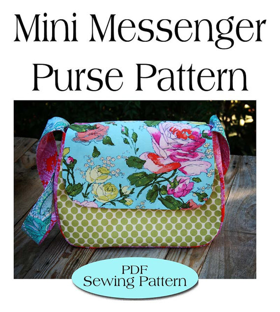 Mini Messenger Bag Patternpurse Pattern Pdf Sewing Pattern Ebook