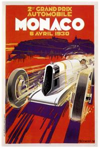 1930 Monaco Grand Prix 11x17 inches Vintage Racing Poster//Print