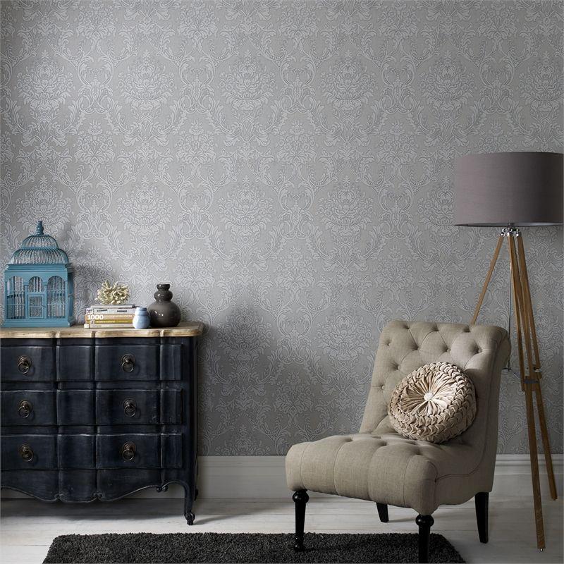 Graham & Brown Grey Province Blue Label Wallpaper I/N