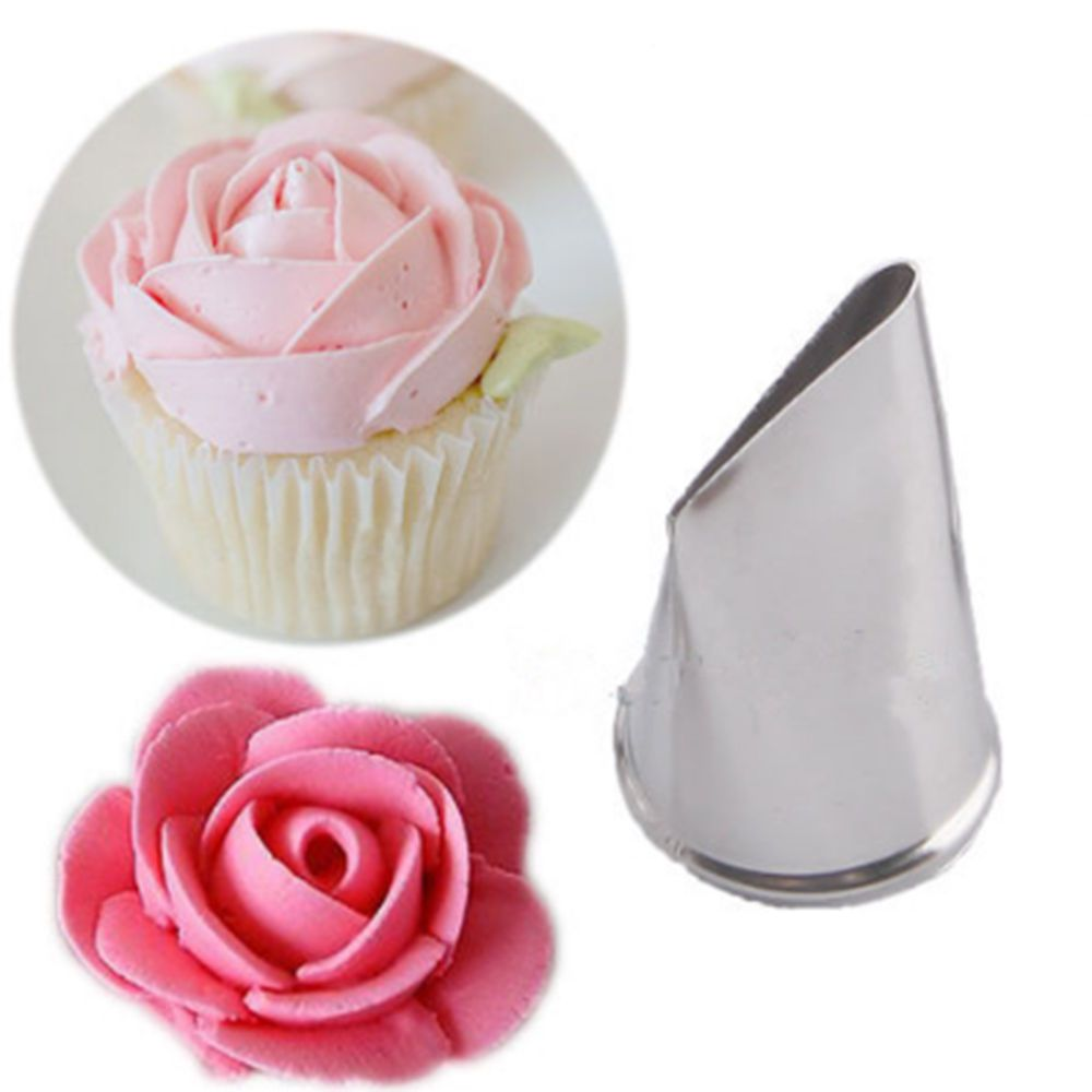 Rose Nozzle Icing Piping Steel Tips Pastry Decorating Cake Tool Cupcake Baking