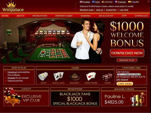 WinPalace Casino has been voted #3 for Best Service and #7 for Best Casino by members of the Gambling City Network. An impressive Exclusive Bonus is available thru Gambling City of 550% to $550 on 1st deposit.  Visit http://www.gamblingcity.com/Casinos/WinPalace-Casino for casino information and instructions for claiming bonus.