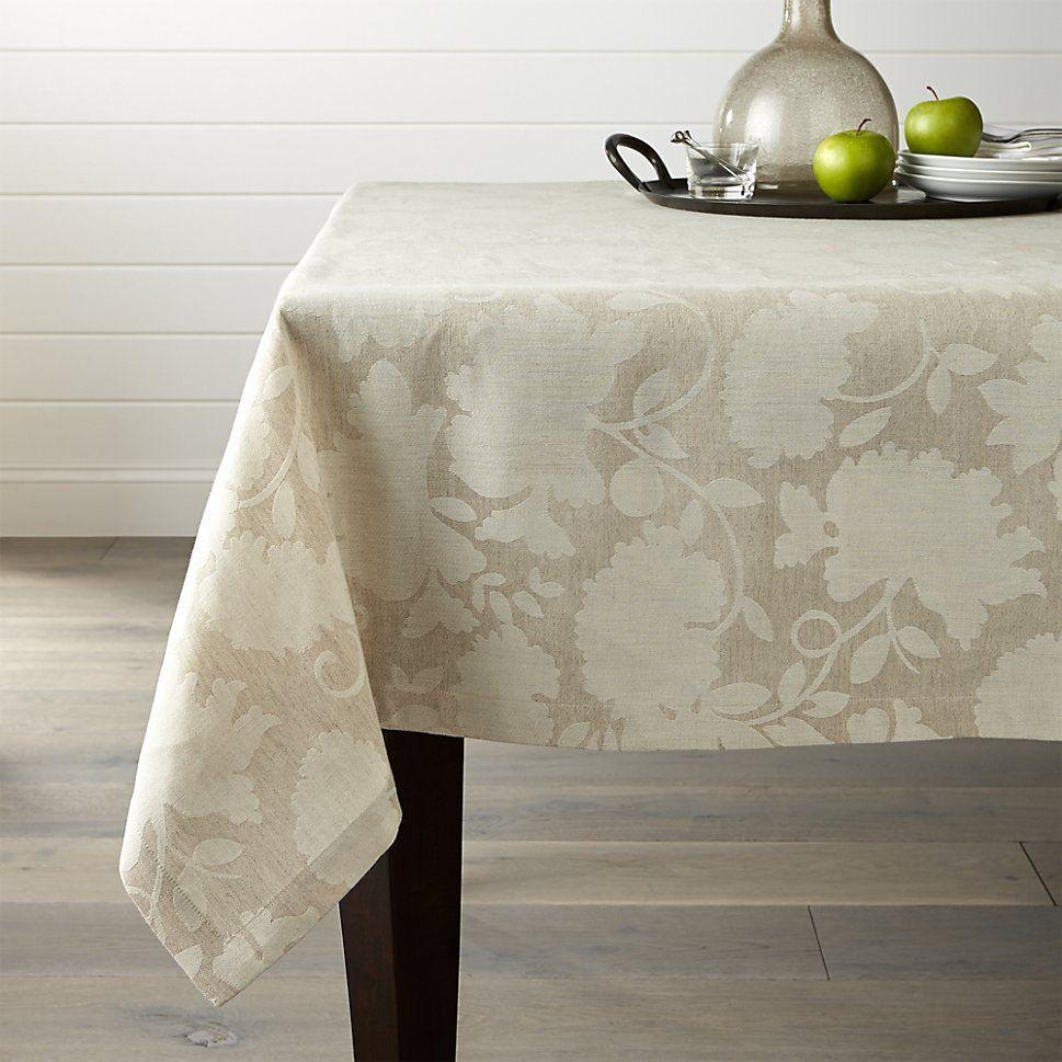 Laurel 60 Quot X120 Quot Linen Tablecloth Crate And Barrel