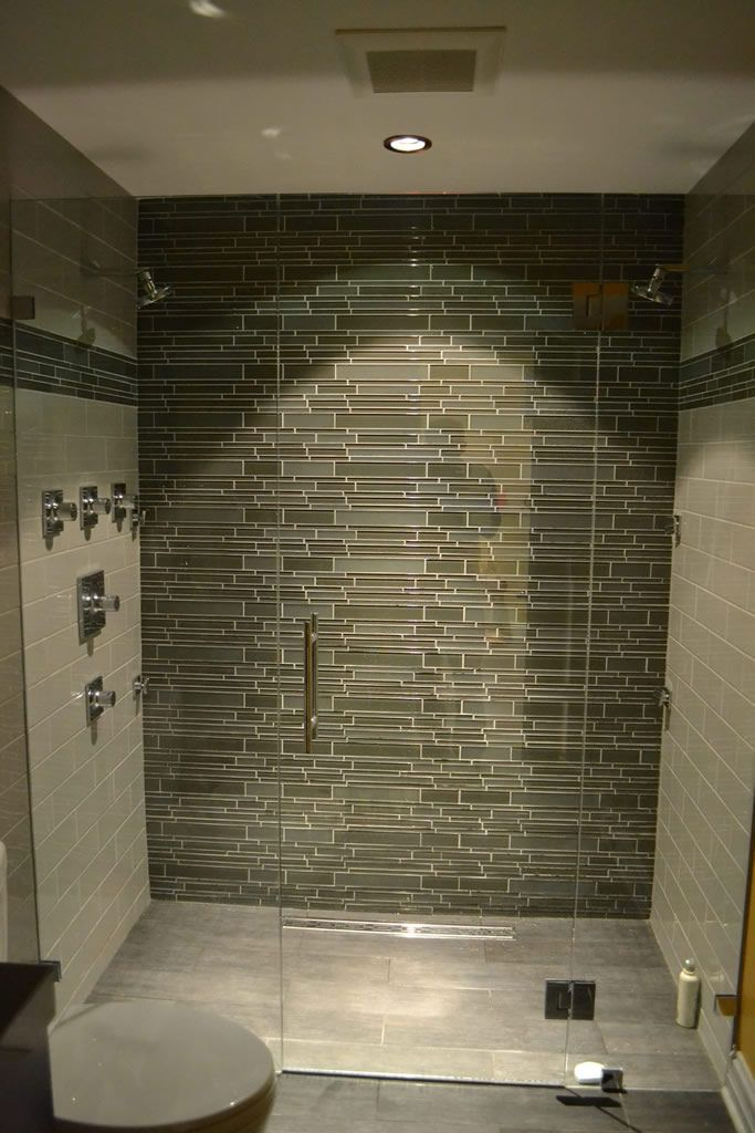 Shower Glass Tile Ideas Modern Bathroom Lakeview Il Barts Remodeling Chicago Il