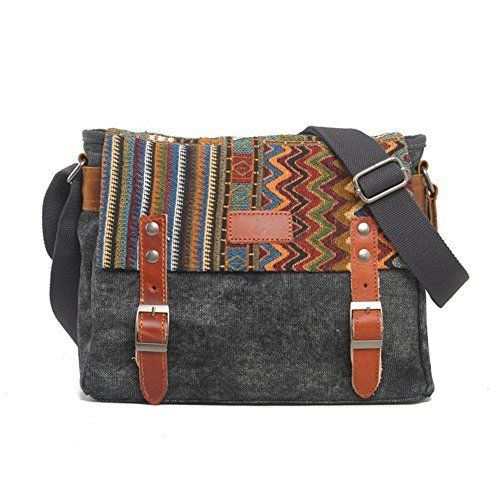 949a73497e New Trending Briefcases amp  Laptop Bags  YAAGLE Mens Womens Vintage  Printing Canvas Messenger Bag