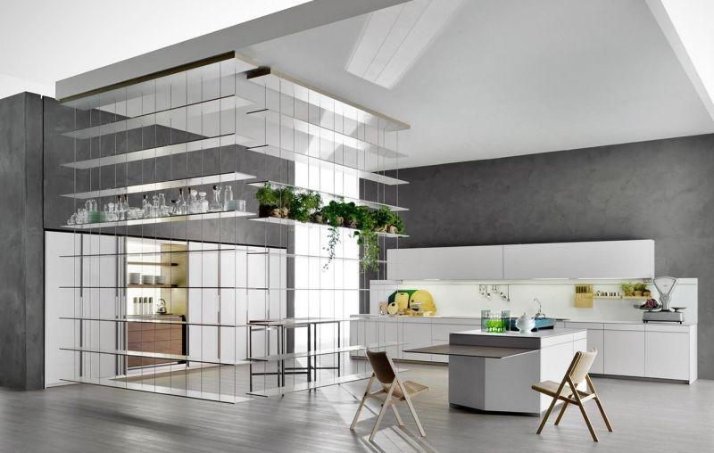 designer kuche kalea cesar arredamenti harmonischen farbtonen, einbaukueche-kochinsel-weiss-hochglanz-arbeitsplatte-ideen | design, Design ideen