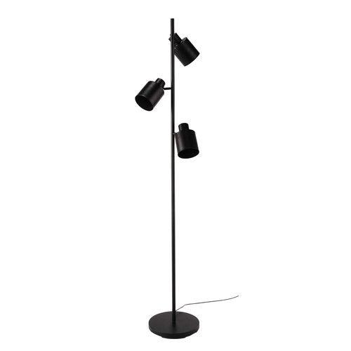 Stehlampe Aus Metall Mit 3 Spots, Schwarz