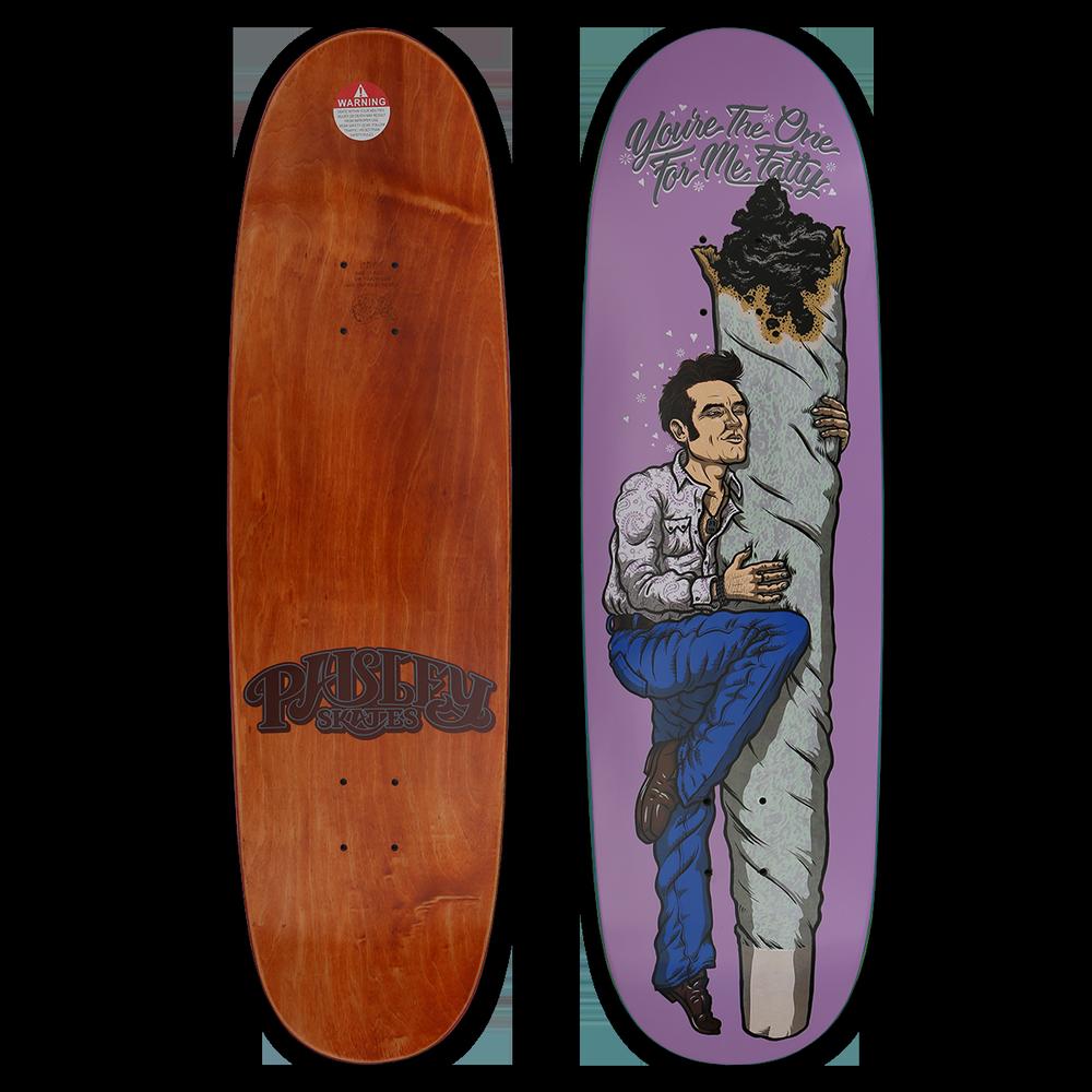 Image Of Todd Bratrud You Re The One For Me Fatty Morrissey Skateboard Deck Skateboard Decks Morrissey Skateboard