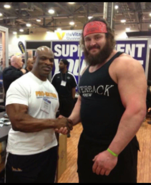 Braun Strowman and bodybuilding legend and former ...