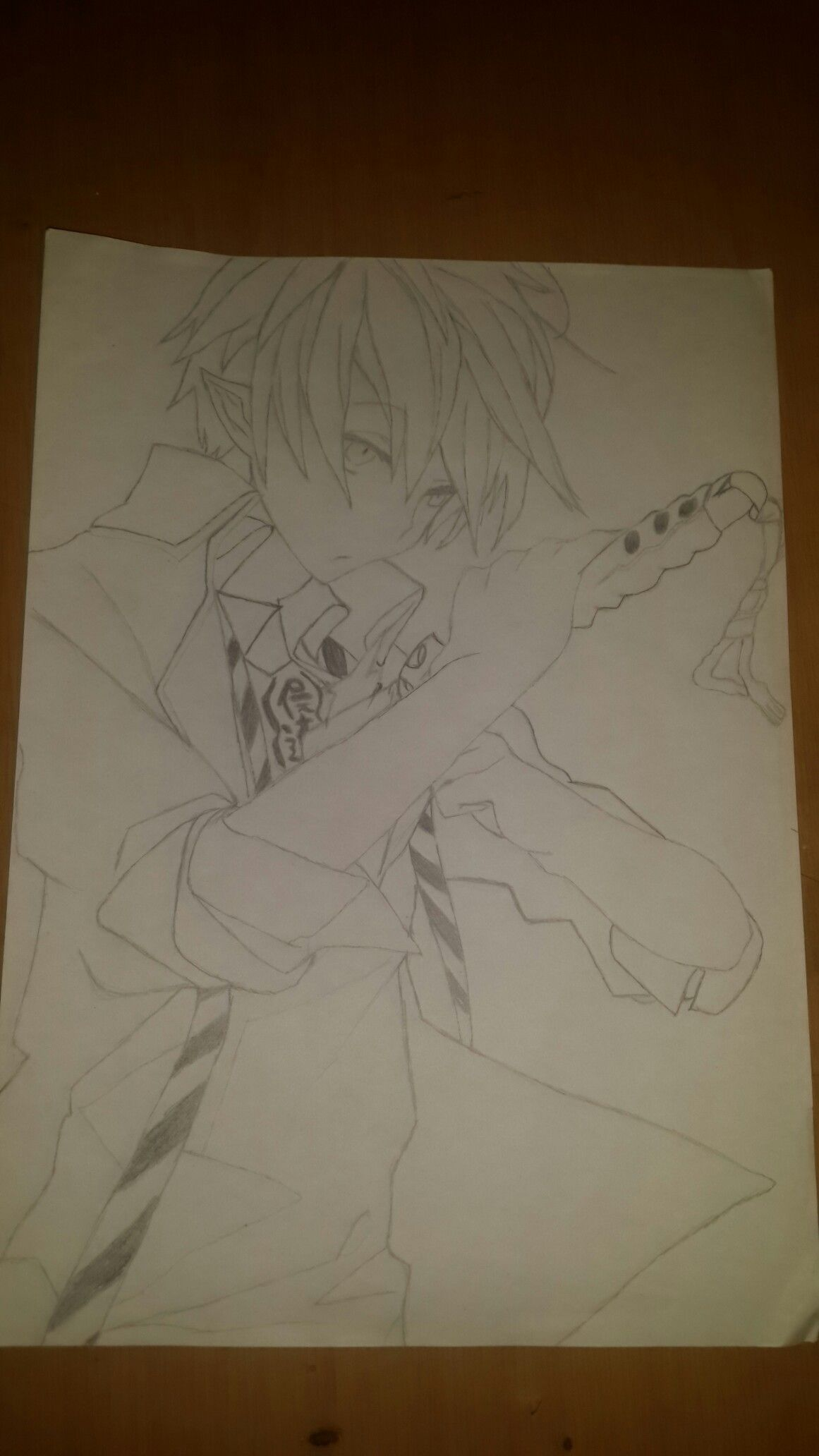 Hey, I tried to draw Run Okumura and I just wanted to know if you think I should color or not?