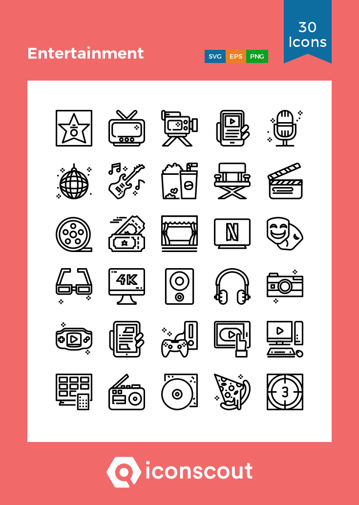 Download Entertainment Icon Pack Available In Svg Png Eps Ai Icon Fonts Icon Pack Line Icon Save Energy Poster