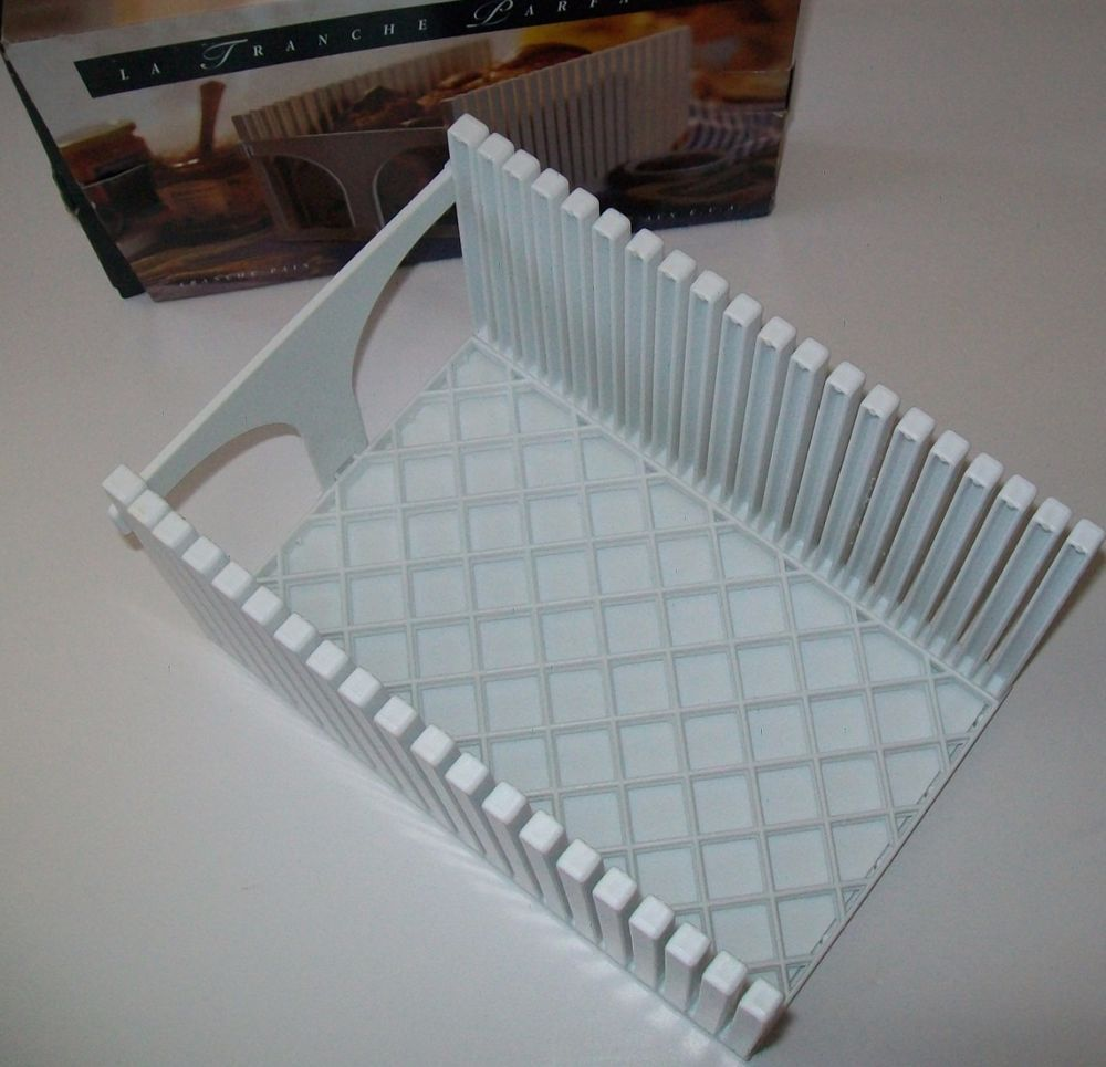 The Perfect Slice Bread Slicer Stores Flat with Removeable Crumb ...