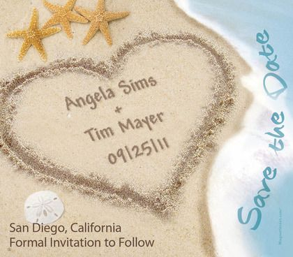 17 Best images about Save the Date Engagement Ideas – Save the Date Cards Beach Wedding