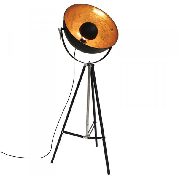 Golden Sun Vloerlamp Zwart Met Goud Lampenwereld Nl